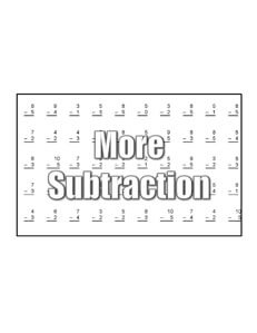 Subtraction Facts math worksheets