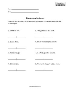 Sentence Diagramming- Subject and Verb