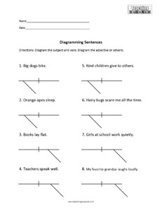 Sentence Diagramming- 2 Modifiers