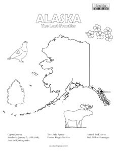 United states coloring pages teaching squared for Alaska coloring pages