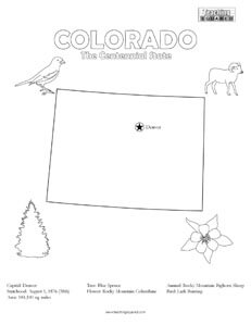 fun Colorado United States coloring page for kids
