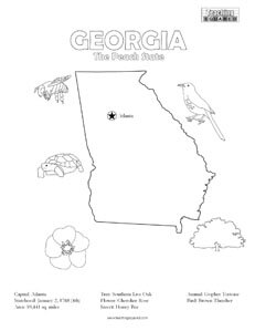 fun Georgia United States coloring page for kids