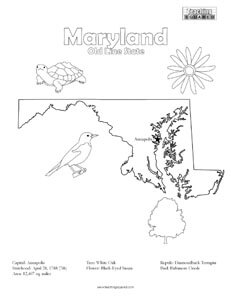 fun Maryland coloring page for kids