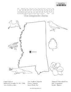 fun Mississippi coloring page for kids