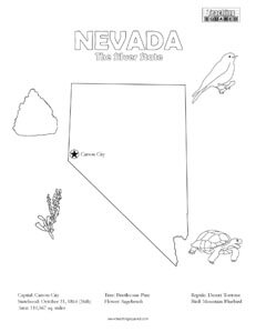 fun Nevada coloring page for kids