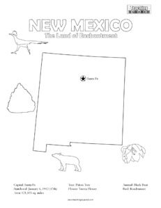 New Mexico Coloring Page
