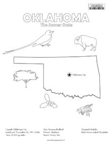 fun Oklahoma coloring page for kids
