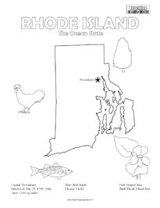 fun Rhode Island United States coloring page for kids