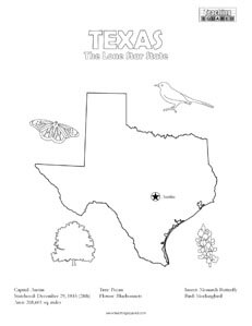 fun texas united states coloring page for kids