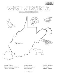 fun West Virginia coloring page for kids
