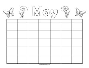 Printable monthly calendar free template
