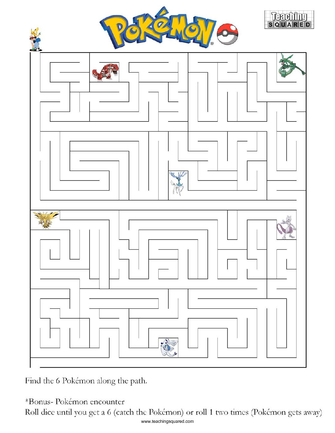 Pokemon Mazes top fun activity